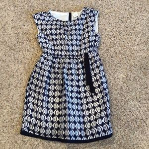 J crew crew cuts girls 8  lined cotton/silk dress